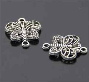 PJ816-20pcs-Charms-Tibetan-Silver-butterfly-Connectors-Accessories-Wholesale