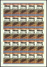 "1873 LNWR Precedent Class ""Hardwicke"" 2-4-0 Imperf/Imperforate Train Stamp Sheet"
