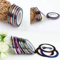 20Pcs Mixed Colors Rolls Striping Tape Line DIY Nail Art Tips Decoration Sticker