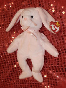TY BEANIE BABY COLLECTION *** HOPPITY THE RABBIT *** CUTE *** 1996 *** 9 IN *