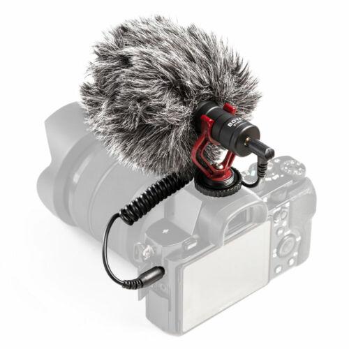 BOYA BY-MM1 Cardiod Shotgun Mikrofon MIC Video für Smartphone DSLR Kamera E4Z3