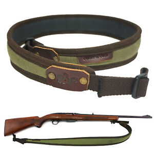 Waxed-Canvas-Shotgun-Gun-Straps-Tactical-2-Point-Hunting-Rifle-Sling-with-Swivel