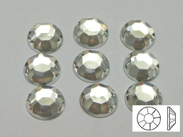 """200 Clear Acrylic Round Flatback Rhinestone Gems 10mm(3/8"""")"""