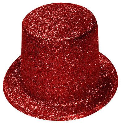 1 X Rosso Glitter Luccicante Cappello Donna Addio Nubilato Costume Festa H23 017