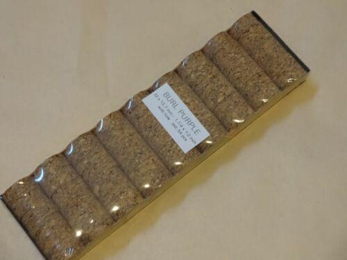 """54 Rod Building emballage Bouchons 4US 1 1//4/"""" x1//2/""""x1//4/"""" Burl Cork anneaux violet"""