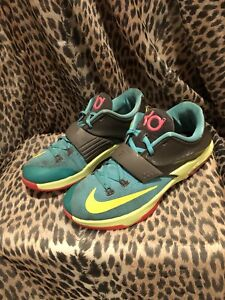 aee10a457dc2 Nike KD VII 7 Kevin Durant Carnival Jade Volt Size 7Y 669942-300