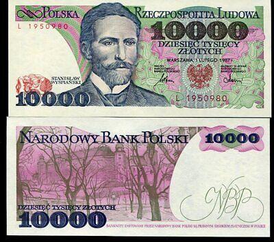 P-151 1987 UNC Poland 10000 Zlotych
