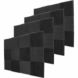 48-Pack-Acoustic-Wedge-Studio-Soundproofing-Foam-Wall-Tiles-12-034-X12-034-X2-034-The-USA