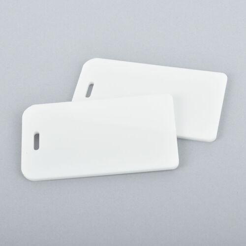 2 WHITE Acrylic LUGGAGE Tags Blanks Laser Cut Acrylic Bag Tags Lca0488