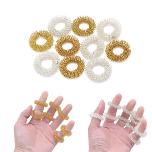 5-10Pcs-Finger-Massage-Ring-Acupuncture-Health-Care-Body-Acupressure-Massagers