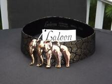 """NWT Laloon Elephant """"The Herd"""" Suede Leather Belt Small"""