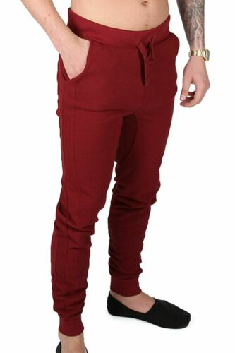 New Mens Textured Side Back Pockets Stretchy Gymming Jog Bottoms Trousers Pants