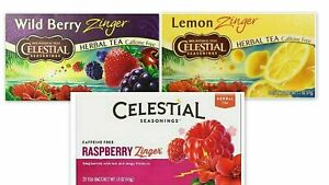Celestial-Seasonings-Tea-Set-Lemon-Zinger-Raspberry-Wild-Berry-Zinger