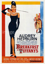Breakfast At Tiffanys Audrey Hepburn Movie Poster 18x24