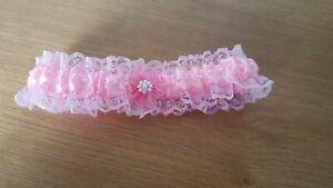 Acheter Pas Cher Pink Handmade Jarretière (10)-afficher Le Titre D'origine Soulager La Chaleur Et Le Soleil