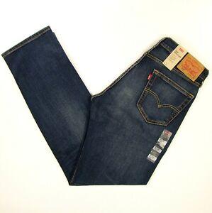 Details zu Levis 505 Mens Jeans Size 33 x 34 YARABI BLUE Stretch Straight Leg Levi's NWT