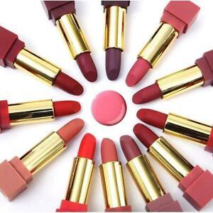 12x-Women-Matte-Lip-Pencil-Lipstick-Lip-Gloss-Waterproof-Set-Lasting-Makeup-K9N8