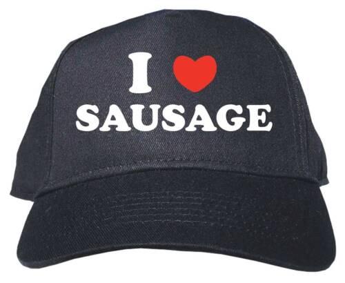 I Heart Love Sausage Adult Low Profile Baseball Hat Cap Adjustable