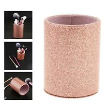 Pu Glitter Pen Holder Pencil Cup Shiny Makeup Brush Holder Organizer Cup For