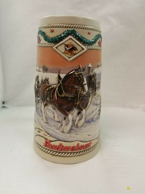 1996 Holiday Budweiser American Homestead Collectable Stein Anheuser-Busch New
