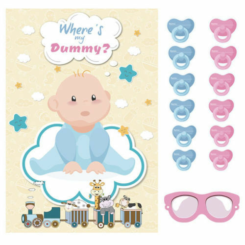 24 Dummies Pin The Dummy On The Baby Multi Player Shower Party Game Unisex