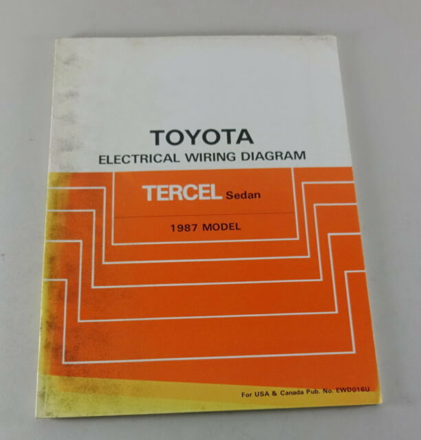 Workshop Manual Toyota Tercel Sedan Electrical Wiring