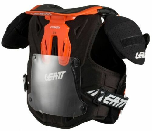 Leatt FUSION 2.0 Youth Kids Vest Neck and Body Protector Orange L//XL 125-150CM