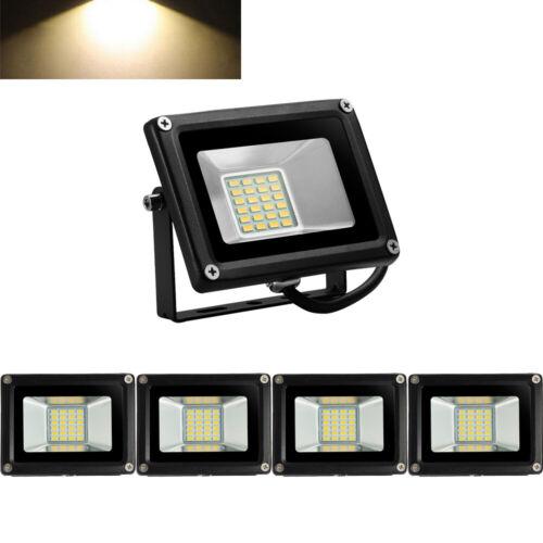 5X 20W 12V LED Floodlight Outdoor Security Garden Lamp IP65 220V Warm White UK