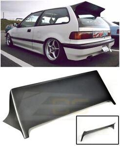 For 88 91 Honda Civic Ef9 J S Style Rear Roof Wing Spoiler Brake Light Deleted Ebay