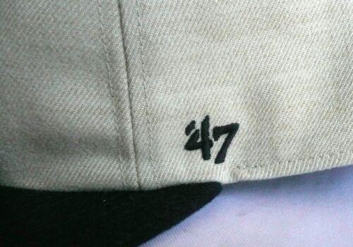 67a3d4638f6 6 of 7 NY NEW YORK YANKEES  47 Brand CAPTAIN Adjustable Snapback Hat Tan  Navy MLB
