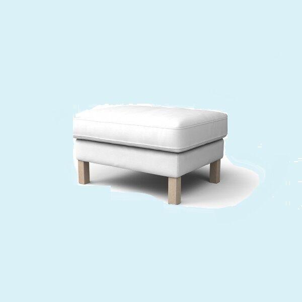 Ikea Karlstad Footstool Blekinge White Slipcover Ottoman Cover Cotton Rare Ebay