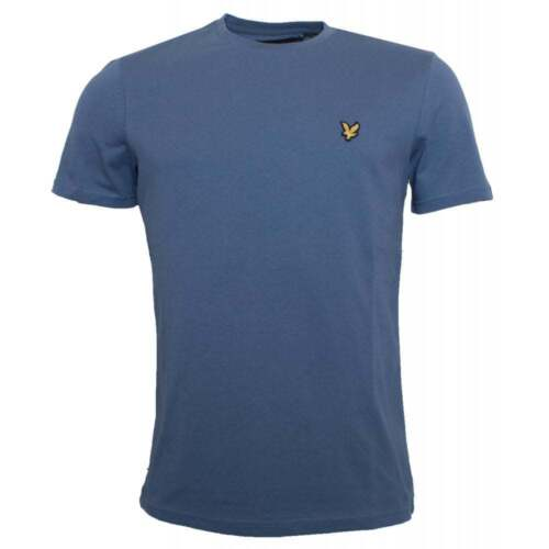 Lyle and Scott TS400V Mens Crew Neck Short Sleeve T shirt Indigo Blue New