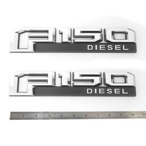 2x OEM F-150 Fx2 Side Fender Emblem Badge 3D logo Ford F150 W Black CL3Z-16720-A