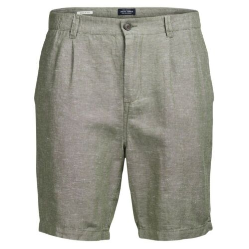 JACK /& JONES uomo jjilinen Chino AKM DROP solido a breve AFFARE. RRP 29.99
