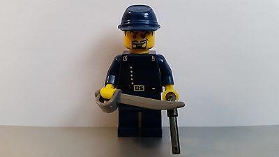 Lego WESTERN AMERICAN CIVIL WAR White Union Lieutenant Minifig Cavalry