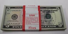 2013 New Uncirculated Five 5  Dollar Bills Pack Chicago G 7 Pack Strap MG-B