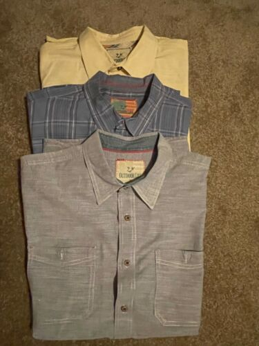 Lot of 3 XL Outdoor Life Mens SS Shirts Preowned/E