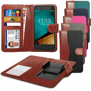 hot sale online 89f87 49085 Details about For Oppo F1 - Clip On Fabric / PU Leather Wallet Case Cover