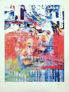 Albert-Einstein-Grafica-d-039-autore-firmata-a-mano-Stefano-Fiore-no-Schifano