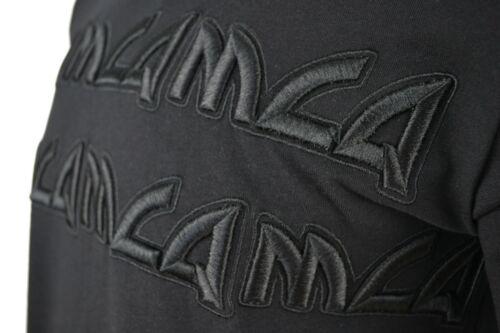 MCQ EMBROIDERED CHUNKY TEXT LOGO BLACK T-SHIRT RARE ALEXANDER MCQUEEN
