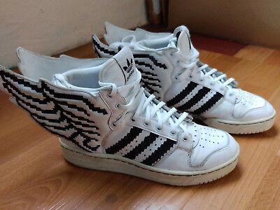 ObyO Adidas Jeremy Scott Flügel Schuhe Silber Schwarz Beste