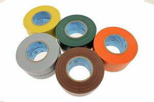 10-LEAD-FREE-Electrical-Tape-UL-Brown-Orange-Gray-Green-Yellow-Color-Coding-600v