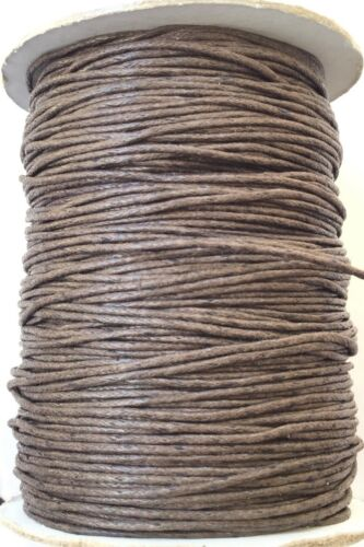 10 Yards Genuine Coffe Brown Natural Round Cotton Waxed Cord-Jewelry Supplies