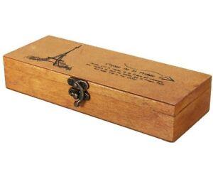 Деревянная деревенская коробка с замком для изготовления материалы и подарки украшения аксессуары