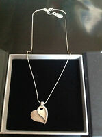 Sterling Silver Heart Necklace By Unique £68