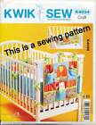 KWIK SEW SEWING PATTERN 4034 BABY COT BUMPERS & ORGANISER WITH LINED POCKETS