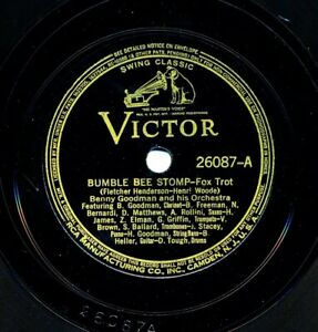 BENNY GOODMAN and his Orchestra on 1938 Victor 26087 - Bumble Bee Stomp