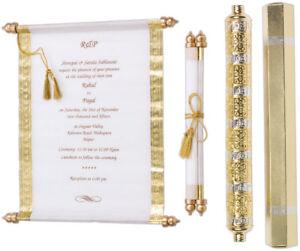 scroll wedding invitation in high end style blank wedding scrolls