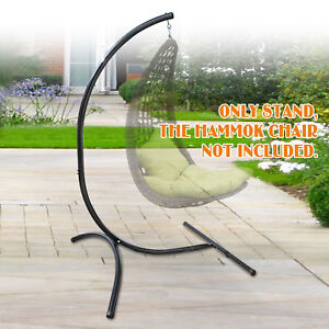 Image Is Loading C Frame Stand Hammock Steel Swing Hanging Chair