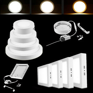 LED Ceiling Pendant Panel Down Light Bulbs 6W 12W 18W 24W Cool /Warm White Lamp